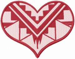 Native American Heart free embroidery design
