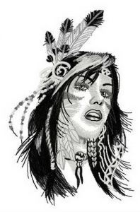 Native American teen embroidery design