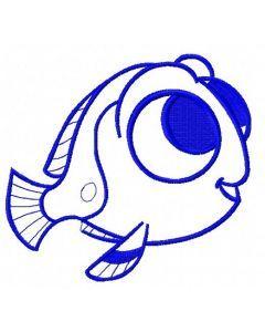 Nemo's friend 2 embroidery design