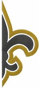New Orleans Saints sign embroidery design