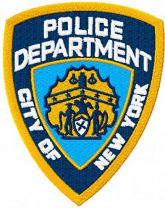 New York City Police department badge machine embroidery design