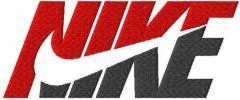Nike red and black logo embroidery design