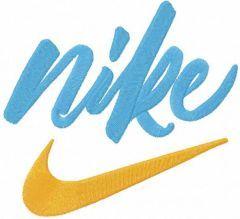 Nike swoosh logo embroidery design