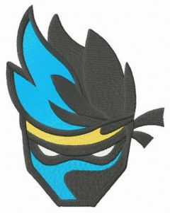 Fortnite Ninja embroidery design