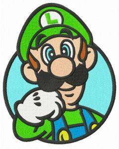 Nintendo Luigi embroidery design