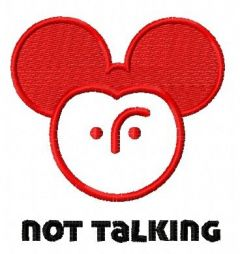 Not talking Mickey embroidery design