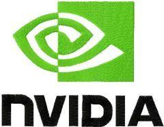 Nvidia logo embroidery design