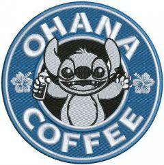 Ohana coffee embroidery design