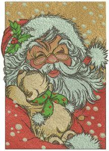 Old kind Santa embroidery design