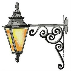 Old lantern embroidery design