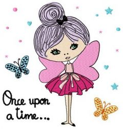 Once upon a time machine embroidery design