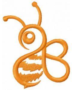 Orange Bee 4 embroidery design