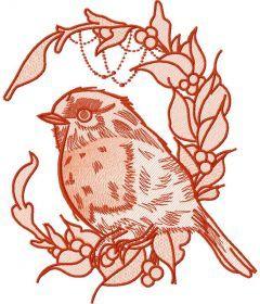 Bullfinch 4 embroidery design
