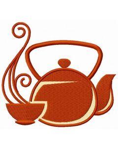 Oriental tea time 2 embroidery design