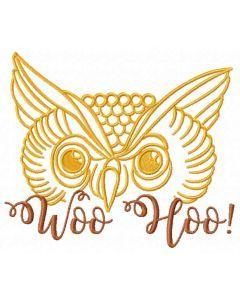 Owl Woo Hoo embroidery design