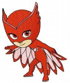 Owlette embroidery design