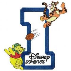 Winnie Pooh Sport Number One embroidery design