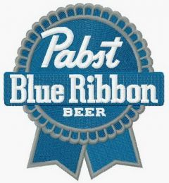 Pabst Blue Ribbon logo machine embroidery design