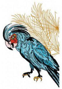Palm cockatoo 2 embroidery design