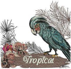 Palm cockatoo embroidery design