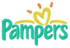 Pampers logo embroidery design
