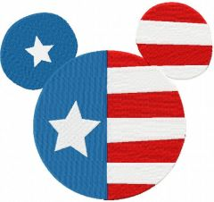 Patriotic Mickey Mouse machine embroidery design