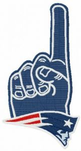 Patriots number one embroidery design