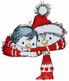 Penguin's Christmas time 2 embroidery design