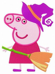 Peppa the witch embroidery design
