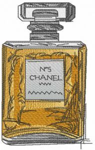 Perfume Chanel 5 embroidery design