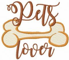 Pets lover 2 embroidery design