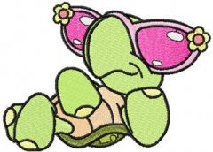 Cool Turtle embroidery design