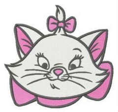 Picky kitten Mary embroidery design