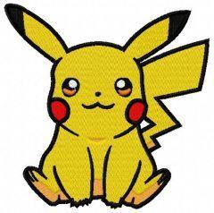 Pikachu 2 embroidery design