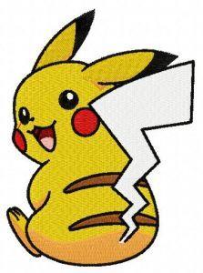 Pikachu 6 embroidery design