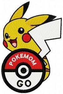 Pikachu 7 embroidery design