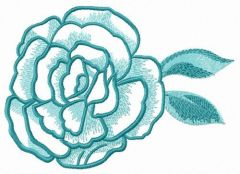 Plucked rose flower embroidery design