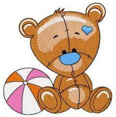 Plush bear embroidery design