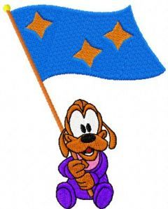 Pluto Victory embroidery design