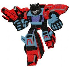 Transformers - Pointblank embroidery design 1