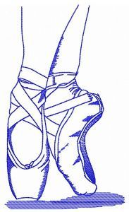 Pointe work one color embroidery design