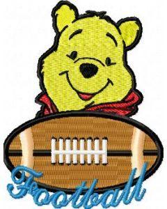 Winnie Pooh Football Logo embroidery design