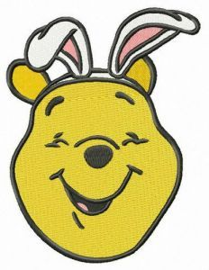 Pooh the bunny embroidery design