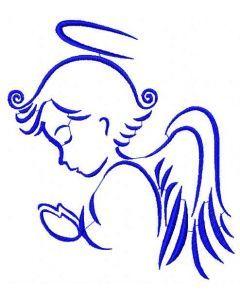 Praying Angel 6 embroidery design