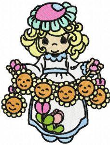 Precious Moments Sun Holiday machine embroidery design