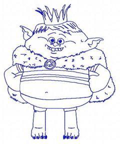 Prince Gristle 2 embroidery design