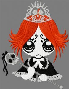 Princess Gloom embroidery design