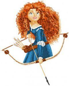 Brave Princess Merida embroidery design