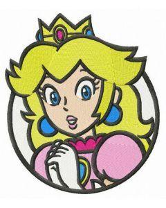 Princess Peach embroidery design