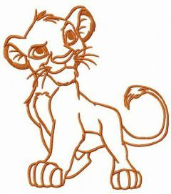 Proud Lion King embroidery design